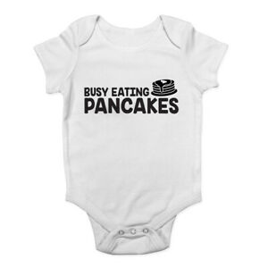Busy-Eating-Pancakes-Boys-Girls-Baby-Grow-Vest-Bodysuit