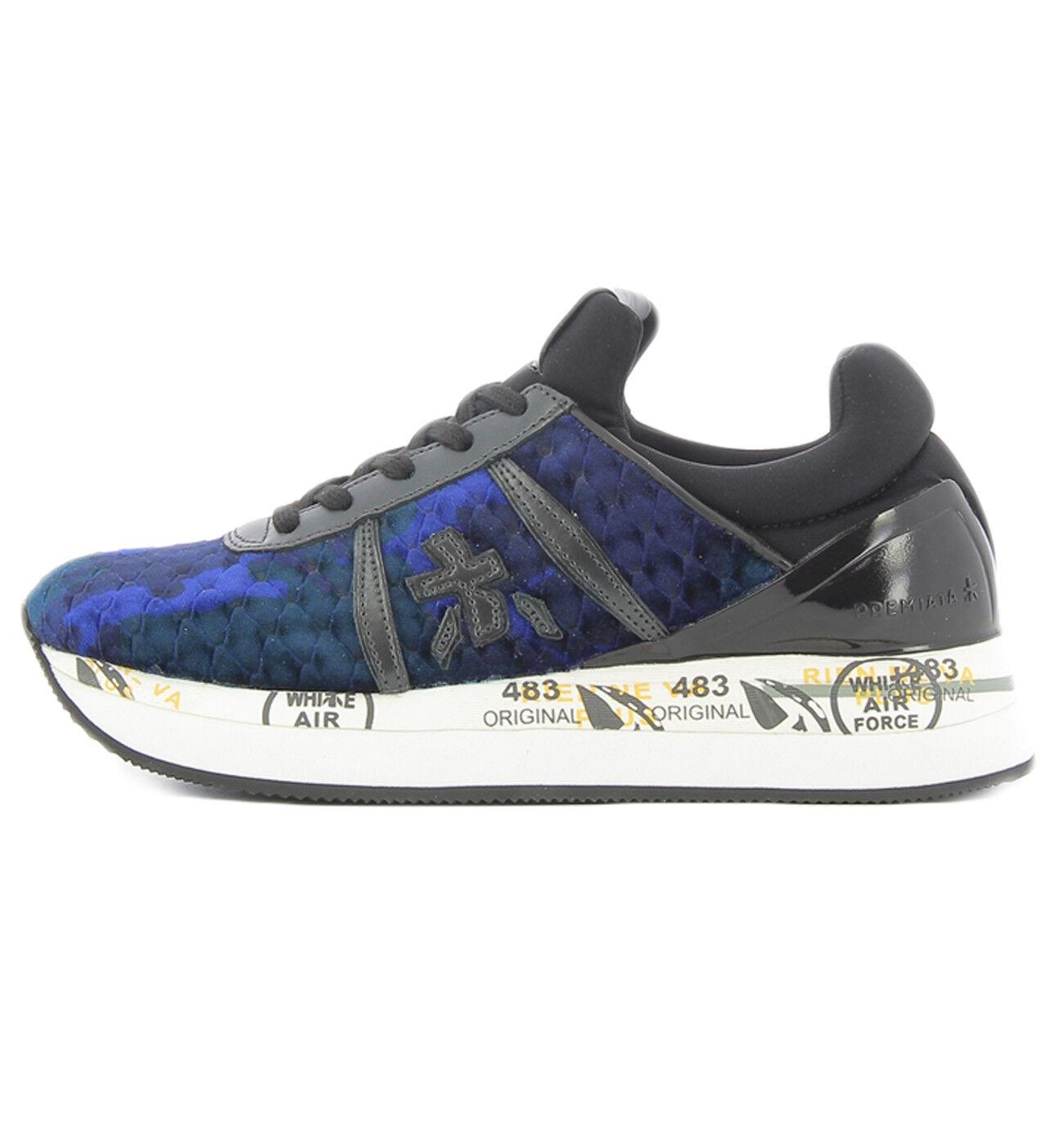 Premiata Liz 3354 scarpe da ginnastica en néoprène blu et et et velours pour Donna  Premiata LIZ335 e98719