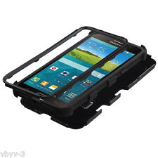 For Samsung Galaxy Mega 2 AT&T Hybrid Shockproof Protective Case Cover BLACK