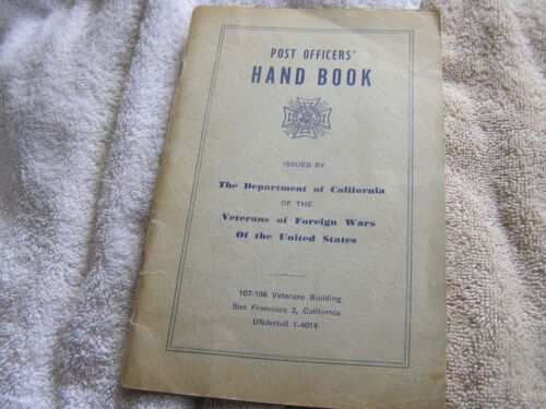 Post Officers Handbook Veterans of Foreign Wars