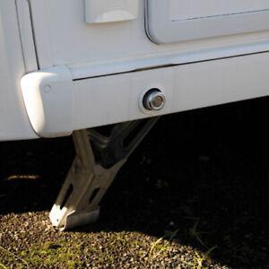 Set of 2 Two SAS Heavy Duty Caravan Tourer Corner Steady Stabiliser Leg Locks ✅