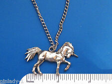 "UNICORN  necklace , pendant ,  20"" chain plus cord , GIFT BOXED"