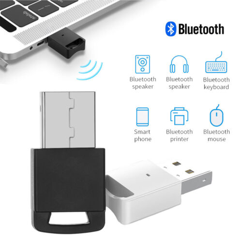 USB Bluetooth 4.0 Adapter Wireless Dongle Stereo Music Receiver For PC Win10//8 A