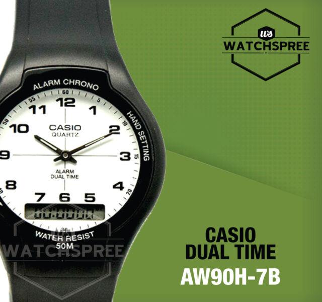 Casio Analog Digital Dual Time Watch AW90H-7B