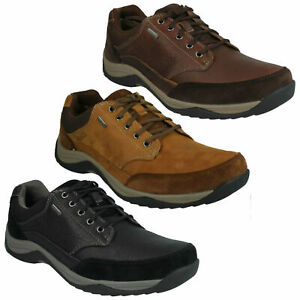 Establecer Bien educado Bourgeon  BAYSTONEGO GTX MENS CLARKS WATERPROOF GORE TEX CASUAL LACE UP LEATHER SHOES  SIZE | eBay