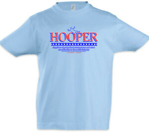 Hooper-II-Kinder-Jungen-T-Shirt-Um-Company-Logo-Kopf-Symbol-Stuntman-und-Kragen