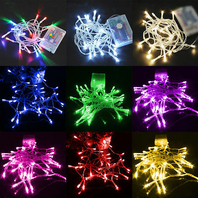 Battery Power Operated 10-80 LED Fairy Lights Lamps Home Xmas Party Decoration