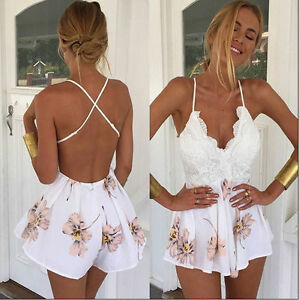 Women-Ladies-Clubwear-V-Neck-Playsuit-Bodycon-Party-Jumpsuit-amp-Romper-Trousers