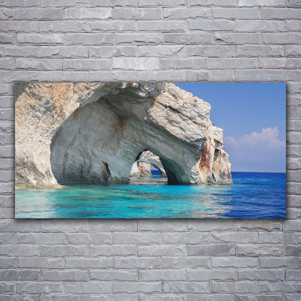 Impression sur verre Wall Art 120x60 Photo Image Falaise Mer Lac Eau Paysage