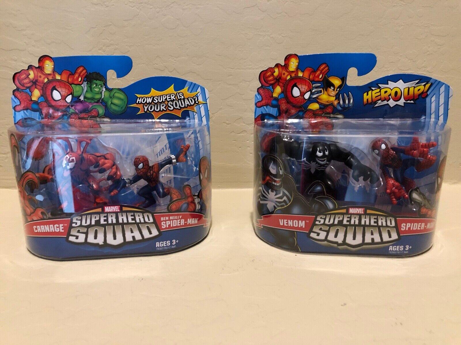 Bundle - Super Hero Squad Carnage & Ben Reilly Spider-Man - Venom & Spider-man