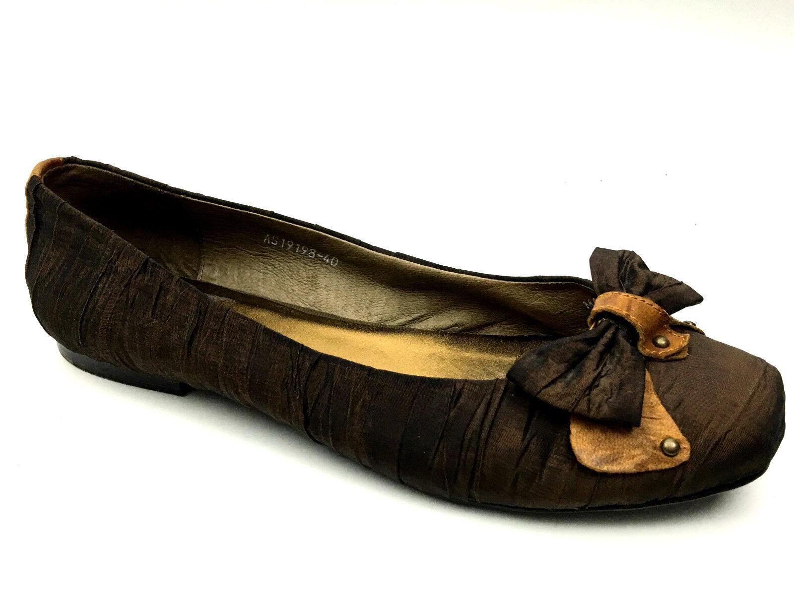 Town chaussures ballerine Flats femmes marron  EU 40 USA 8
