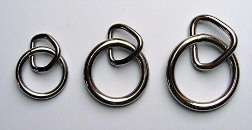 """geschweißter Ring m.geschweißter Triangel Edelstahl 1 1//4 /"""" x 3//4/"""""""