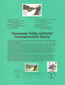USPS-Souvenir-Page-8318-w-Tennessee-Valley-Author-2042-CTC-w-FD-Cancel