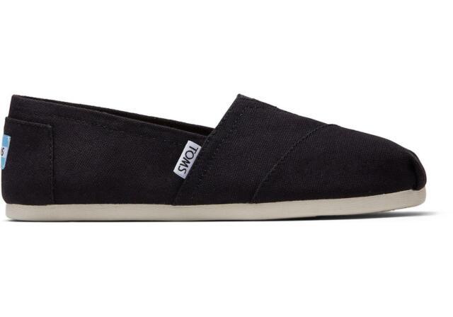 Toms Classic Black Canvas Shoes Women's