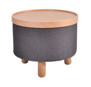 Couchtisch Beistelltisch Sitz Fuß Hocker Molde Tablett abnehmbar Grau 50cm