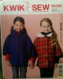 b1df22cfbaee K4130 New Kwik Sew Girl s Jackets Sewing Pattern 2 Styles Size XXS-L ...