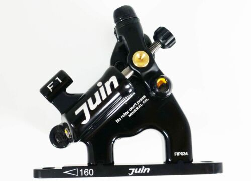 Juin Tech F1 Hybrid Hydraulic Road Disc Brake Set Black ... Flat mountRoad