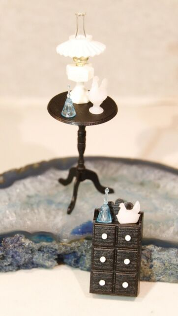 Dollhouse Miniature Chrysnbon Victorian Table Kit  in Brown