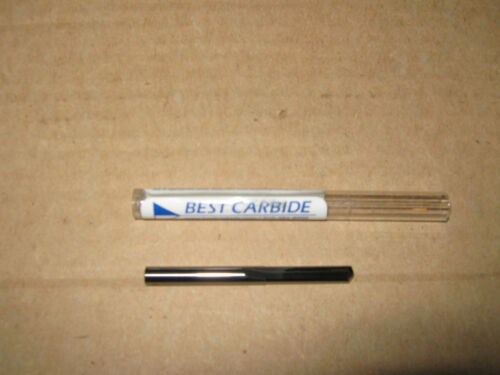 """SOLID CARBIDE STRAIGHT FLUTE 140DEG NOTCHED POINT DRILL BIT /""""NEW/"""" # 53 .0595"""