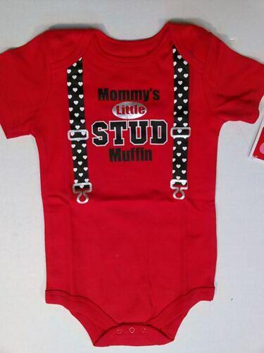 Baby Boys Romper Bodysuit Printed Raised Graphics Short Sleeve 12 18 24 Month