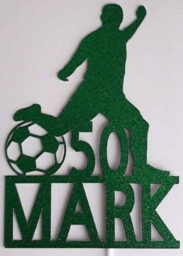 PERSONALISED FOOTBALL ANY NAME//AGE BIRTHDAY CAKE TOPPER