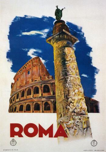 TV78 Vintage 1935 Roma Rome Italian Italy Travel Tourism Poster A4