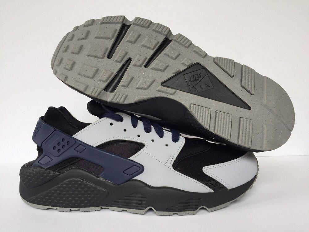 NIKE AIR HUARACHE ID Noir/Gris/Bleu Homme  Chaussures de de de sport pour hommes et femmes 90e4dd