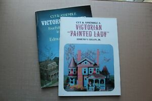 Lot of 2 Edmund V. Gillon Jr. Cut & Assemble Victorian Books ** Painted Lady **