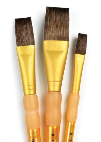 Royal Brush 3Pc Camel Hair Flat Brush Set