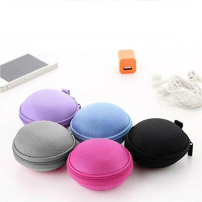 Mini Hard Carry Storage Pouch Bag Case Hold For Headphone Earphone Headset Top