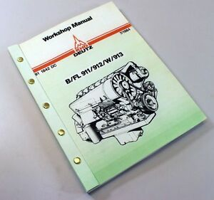 khd deutz b fl 911 912 w 913 diesel engine service repair workshop rh ebay com deutz bf4m2012 bf6m2012 bf6m2012 engine service manual.pdf bf4m2011 deutz engine service manual