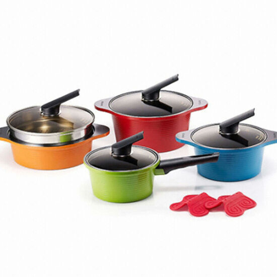 Alumite Ceramic Pots Die Casting Ceramic Coating Kitchenware 4 Set