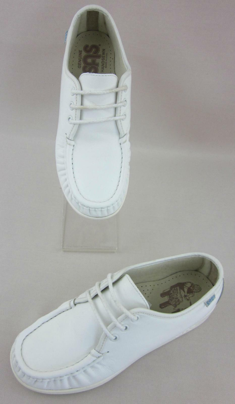SAS US Siesta damen Comfort schuhe Weiß Leather US SAS 7WW Extra Wide USA Made 74cf7f