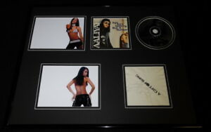 Aaliyah-Signed-Framed-16x20-Age-Ain-039-t-Nothin-But-a-Number-CD-amp-Photo-Set-JSA