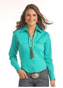 Panhandle-Slim-Women-039-s-Snap-Up-Western-Shirt-in-Purple-or-Turquoise-22S6529