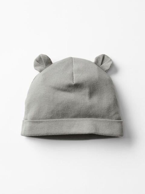 60ad0d732cd Gap Baby Boys   Girls Size Newborn Gray Cotton Bear Hat W ears