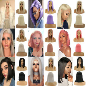 Women-Lace-Front-Wig-Short-Straight-Cosplay-Party-Full-Hair-Wigs-Synthetic-Anime