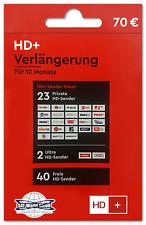 HD+ Plus Verlängerung für 12 Monate für alle HD+ Karten HD01/02/03/04 (NEU 2018)