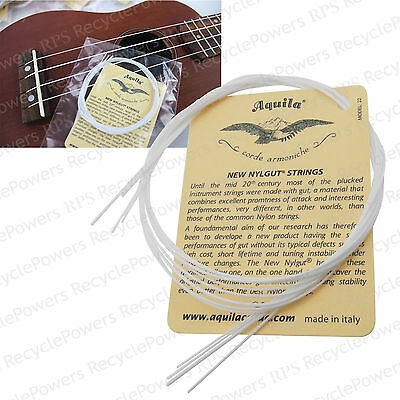 Set of 4 Strings White Nylon Replacement Part for Ukulele Guitar New LOT