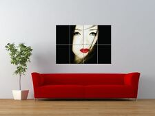 MEMORIE di una Geisha SEXY Occhi Labbra GIGANTE art print poster pannello nor0147
