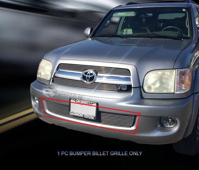 APS T65397A Polished Aluminum Billet Grille Bolt Over for select Toyota Sequoia Models