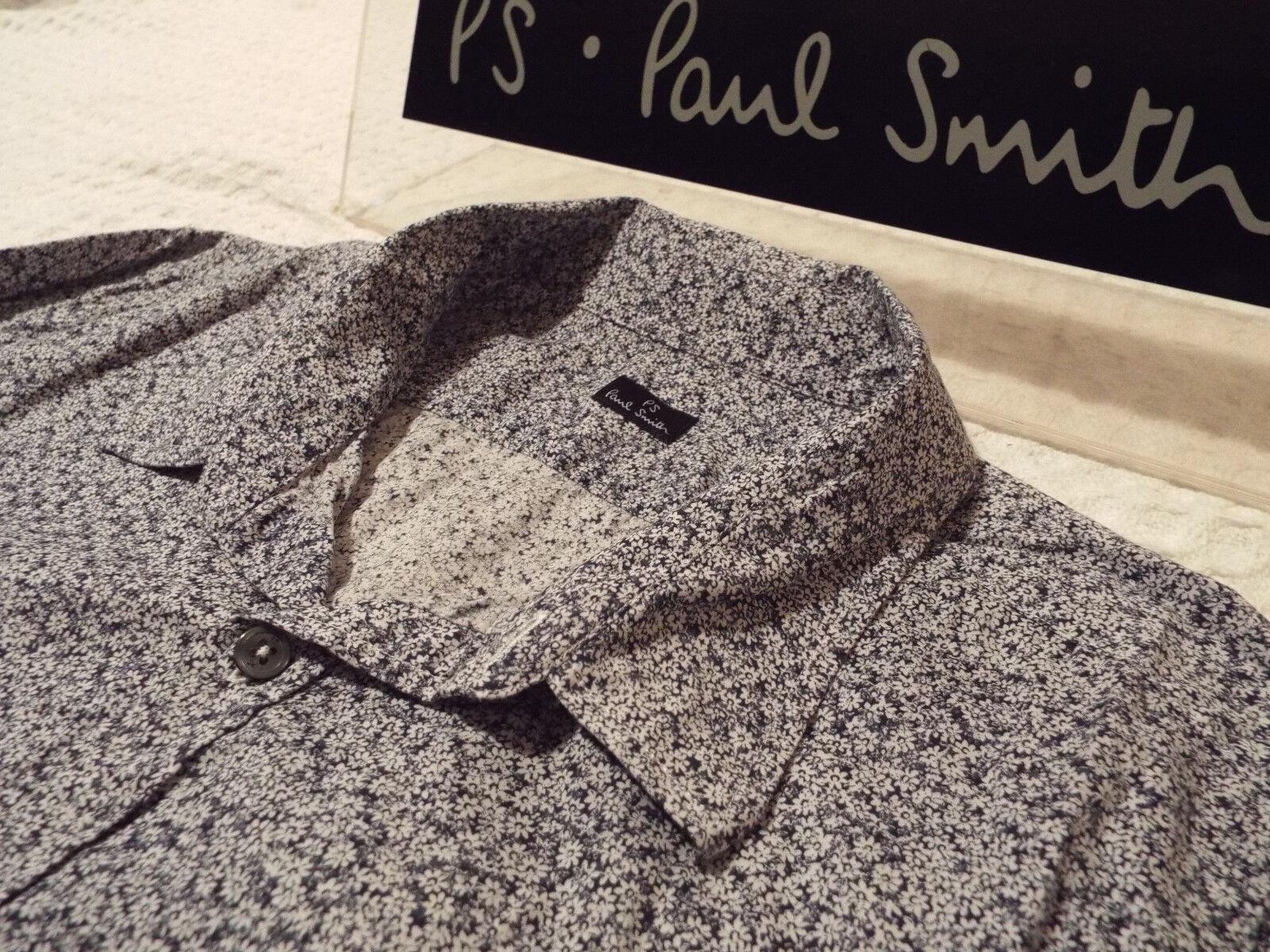 PAUL SMITH Mens Shirt  Größe XL (CHEST 44 )   +  FLORAL LIBERTY STYLE  | Professionelles Design