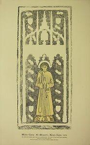 1891 Antico Stampa Monumentale Ottone Sfregamento Walter Coney San MARGARET'S Re