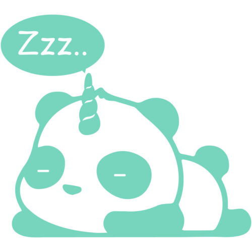 "Pandacorn Sleeping 5/"" Vinyl Decal Car Window Sticker Unicorn Panda Funny Cute"