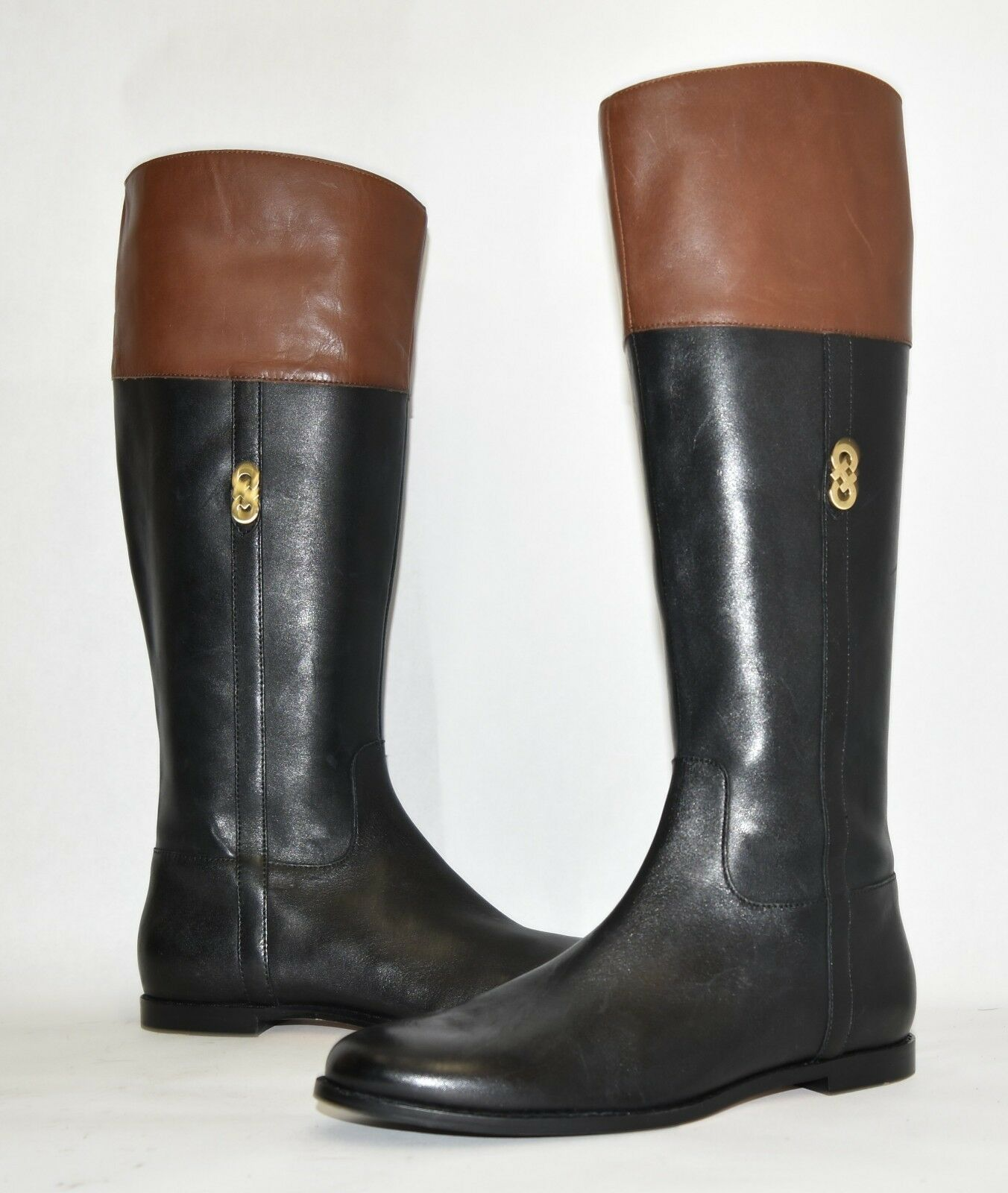New! Cole Haan Rigby Riding Boot II Black Leather Size 7.5 MSRP $308 W00609