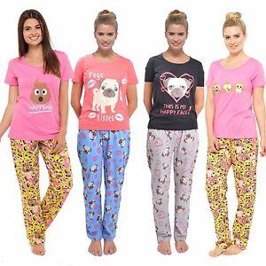 Ladies Cotton Jersey Short Sleeve Print Pyjamas Sets Nightwear Sizes ... b9f0bbede