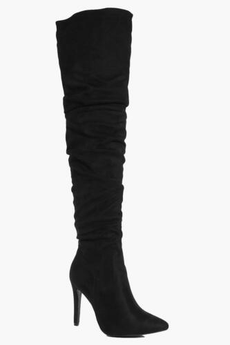 3 Over Pointed Salew Women's The 46 Js22 36 Uk Rose Knee Ruched Boot Eu Black gUnzwxIqT