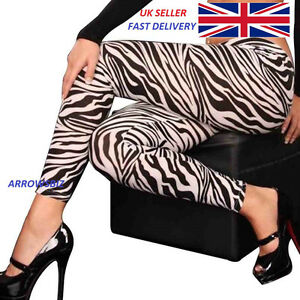 High Quality New Style Ladies Animal Print Leggings Zebra Cheetah Leopard