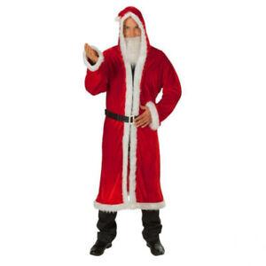 Weihnachten-Advent-Nikolaus-Weihnachts-Feier-Samt-Mantel-Weihnachtsmann