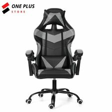 Gaming Chair Racing Office Chair Computer Desk Seat Leather Recliner Swivel